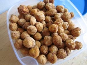 Peanut Flour Roasted Garbanzo Beans